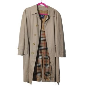 Burberry Tan Trench Coat with Nova Check Liner